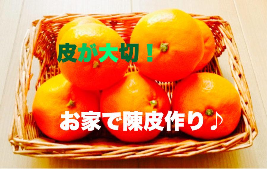 【薬膳のちえ★5~皮が大事!ミカン~】
